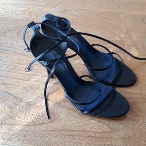 Bcbgmaxazria Black Heel Sandal
